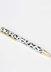 Leopard With Gold Pen