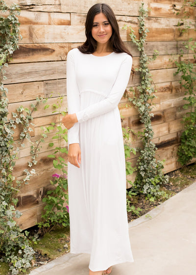 White pom-pom waist maxi dress.