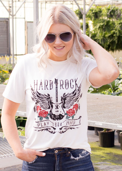 Hard Rock Graphic Tee in White
