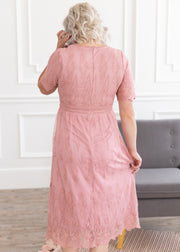 Want You Back Dress in Mauve