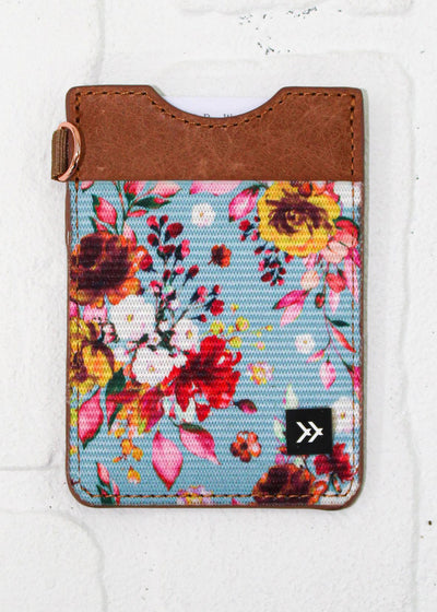 Thread Wallet Blue Floral Vertical Wallet