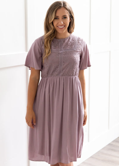 Perry Lavender Lace Dress