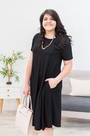 Curvy The Perfect Dress in Black