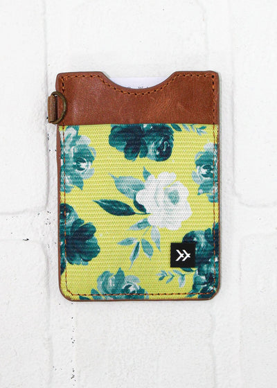 Thread Wallets Yellow Floral Vertical Wallet
