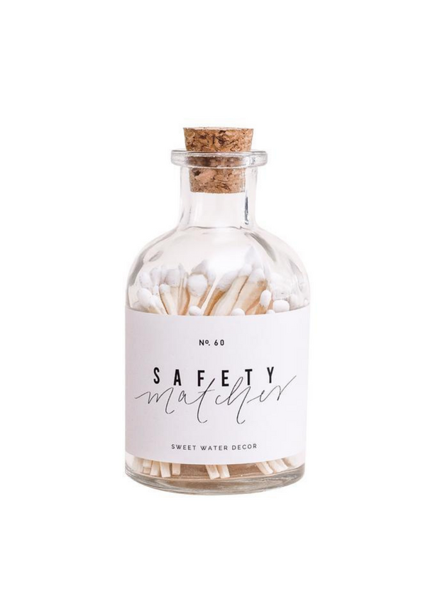 White Safety Matches in Apothecary Jar