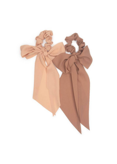 Terracotta Crepe Scarf Scrunchies 2-Pack