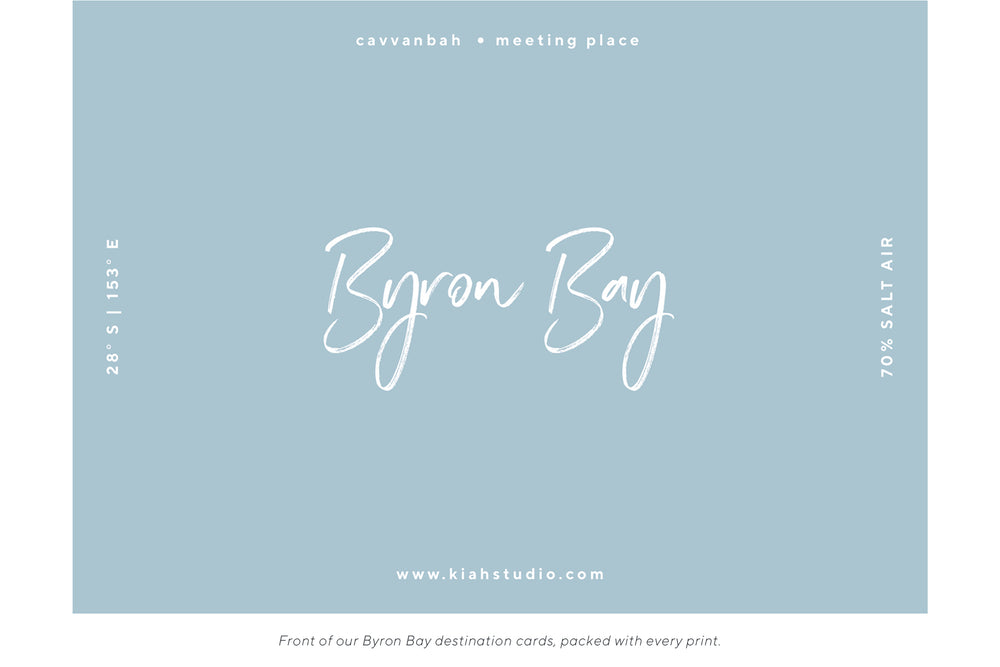 Byron Blues Memento Print