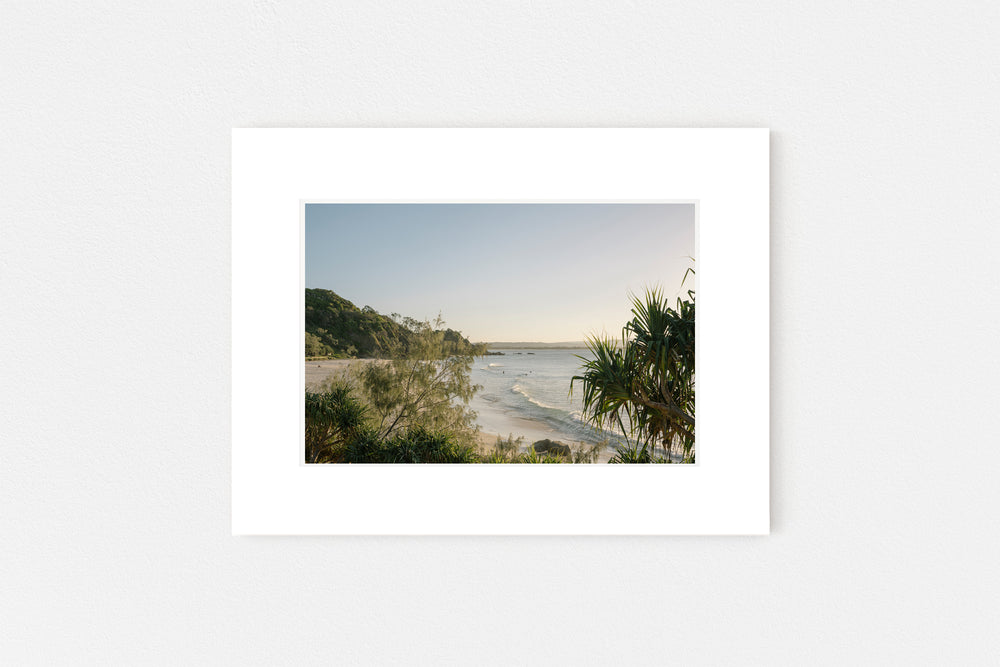 Wategos Beach Memento Print