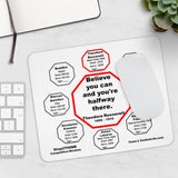Believe you can and you're halfway there.  -  Theodore Roosevelt  1858 - 1919  -  Pretty Witty Mousepads Stop2Think