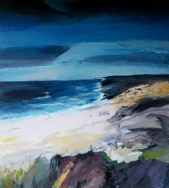 Sky and sea ( 90x100 cm )