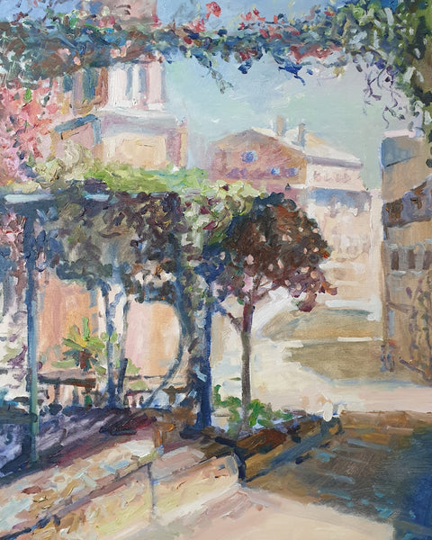 Shadowed terrace (50x70cm)