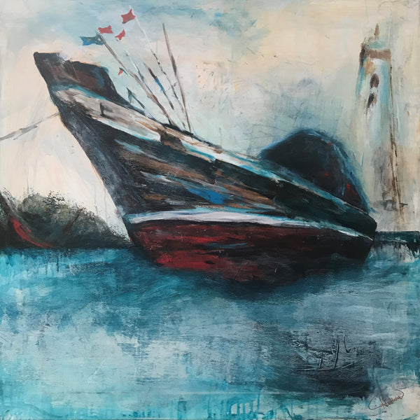 The Fishing Boat (80x80cm)