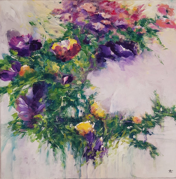 Flower in wreath (50x50cm)