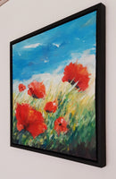 Poppies in the wind (50x50cm)