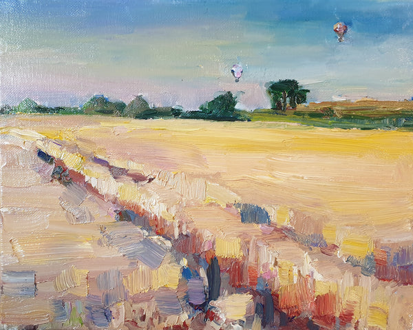 Flight over the cornfields (30x24cm)