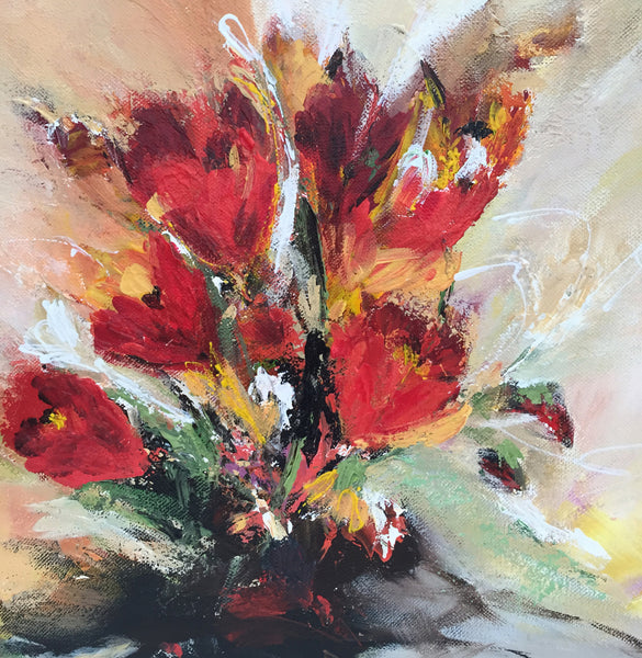 Tulips composition 11 (40x40cm)