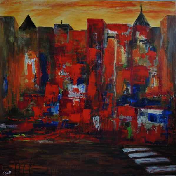 Manhattan by Night (100x100cm)