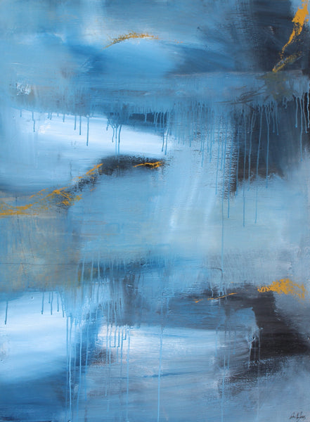 Abstract Blue (90x120cm)