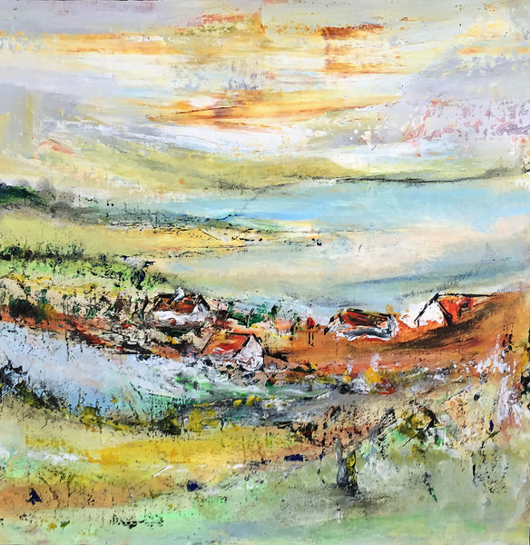 Landscape composition no. 2320 ( 40x40 cm )