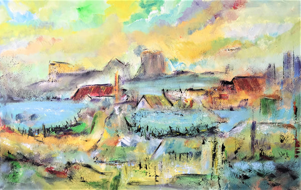 Landscape composition no. 2335 (110x70cm)