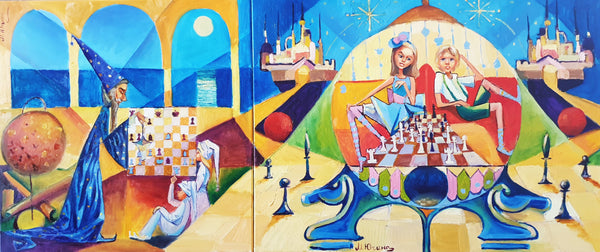 Wizard of Oz & Chess Dreamland (140x60cm)