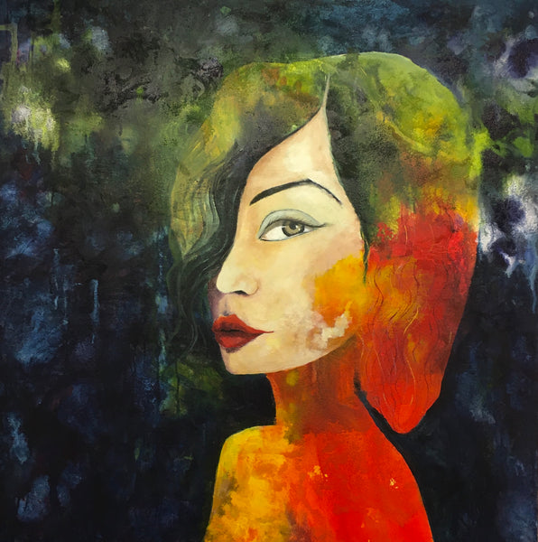 Colorful lady (100x100cm)
