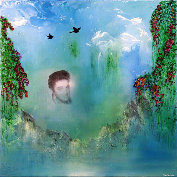Around the falls - Elvis in heaven (80x80cm)
