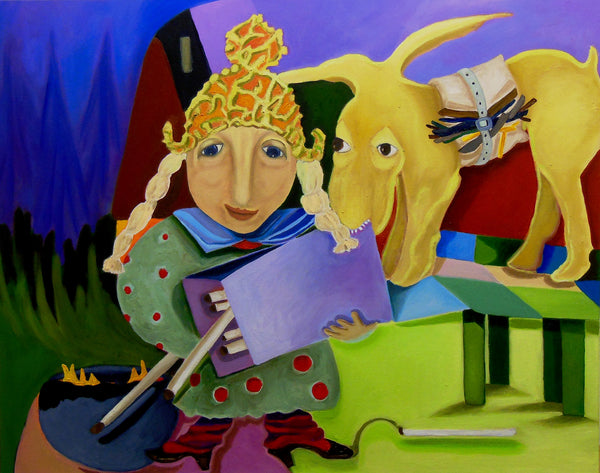 Wizard with the Sulfur Sticks (100x80cm)