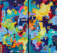 From here my world goes (140x130cm)