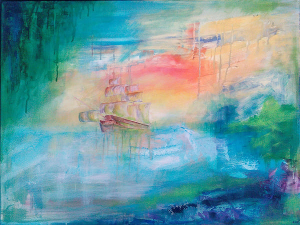Ghost ship ( 80x60 cm )