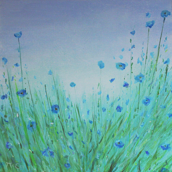 Wild Forget Me Not Flowers ( 30x30 cm )