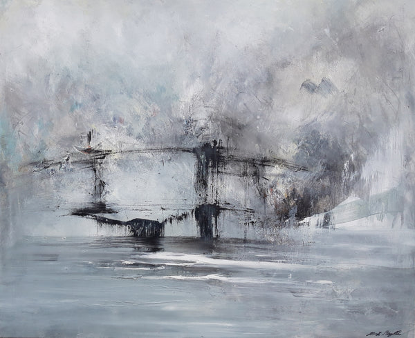 Mysterious bridge  (120x100cm)