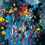 Galaxy m21d13 - Splashes of champagne ( 40x40 cm )