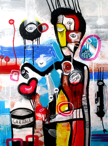 Love vs comfort zone ( 60x80 cm )