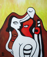 Woman and sadness ( 50x60 cm )