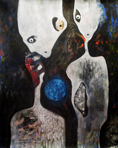 Aliens and neutron star ( 80x100 cm )