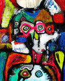 Pink glasses for two ( 80x100 cm )