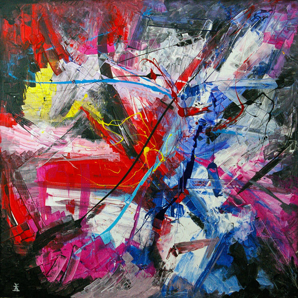 Emotions of music I ( 80x80 cm )