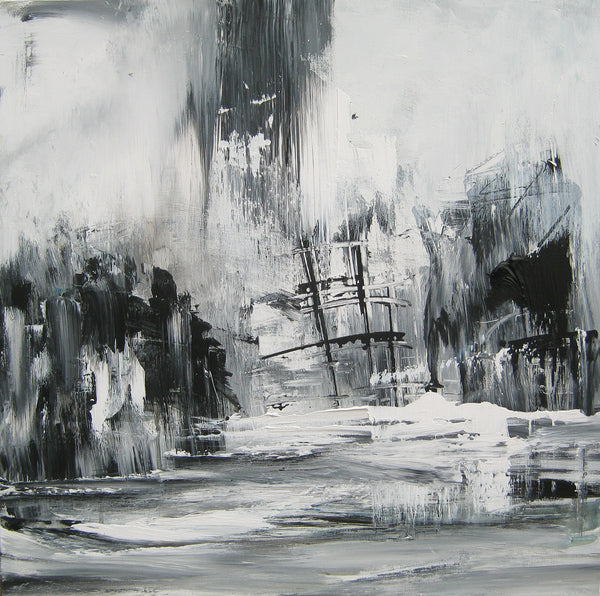 Black and white landscape ( 60x60 cm )