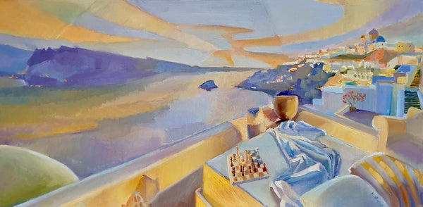 Golden Evening (80x40cm)