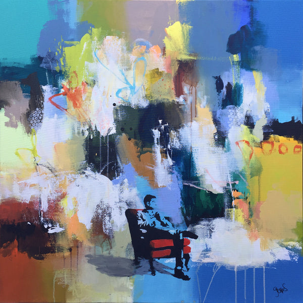 Relaxing in hot seat (100x100cm)