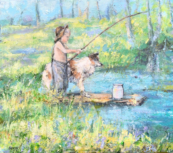 A small fisherman ( 70x60 cm )