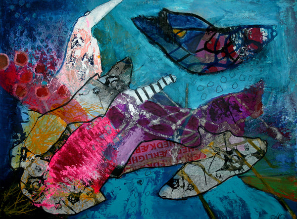 Like a fish in water (80x60cm)