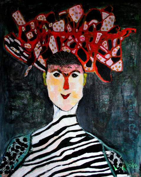 The crown of the work ( 80x100 cm )
