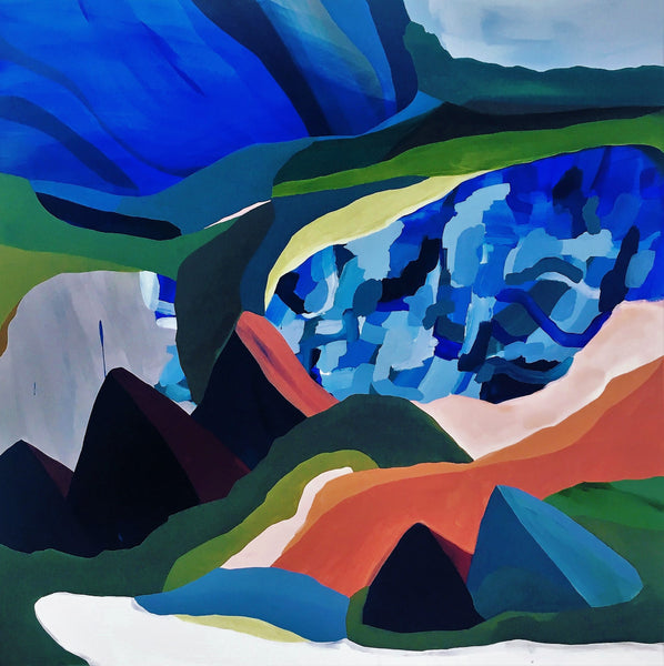 Scenery of the alps (100x100cm)