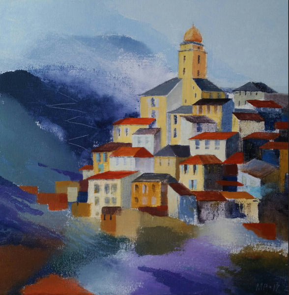 A town in Provence ( 40x40 cm )