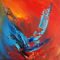 Abstract spartel 6 ( 50x50 cm )