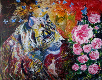 Tiger for love ( 120x100 cm )