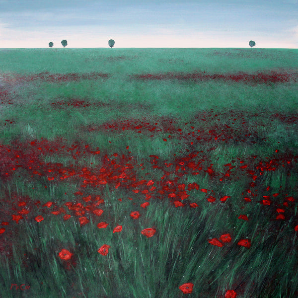 Field of Red Poppies ( 70x70 cm )
