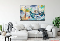 Dropping Anchor - Home is where love is (195x120cm)